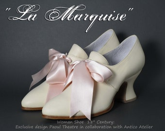 IVORY 18 century shoes - Marie Antoinette  shoes - 18 th.- scarpa settecento donna avorio