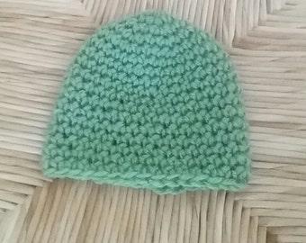 Simple Crochet Baby Hat - Pattern
