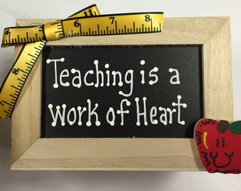 Teacher Gifts  2711DC Teaching is a Work of Heart Supply Box