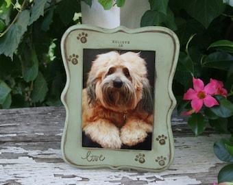 5 x 7 frames / dog frames / pet frames / pet memorials / pet gifts / dogs / cat frames / rustic home decor / christmas gifts