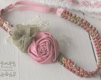 Floral headband- baby headband