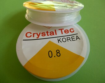 Stretch beading thread.  Clear elastic for beading  .8mm