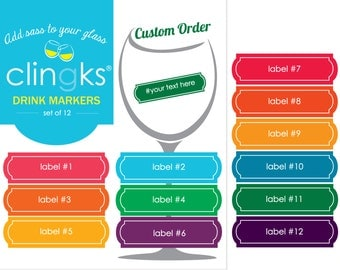 Custom Drink Markers, Custom Wine Charms, Clingks Drink Markers