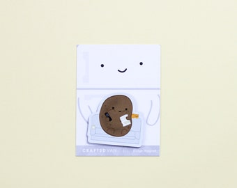 Couch Potato Fridge Magnet
