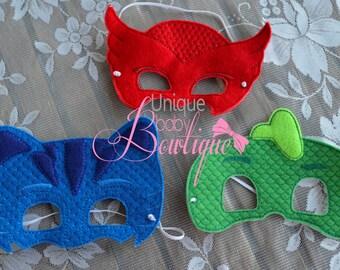 PJ Mask Inspired mask set