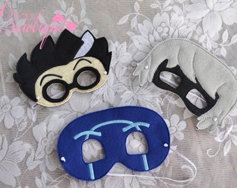 PJ mask inspired villain set
