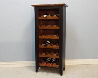 Wine Rack /Wine Holder Cabinet / Black Wine Storage Hutch