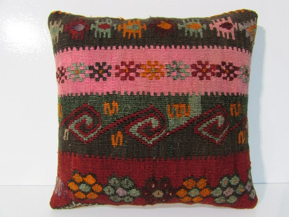 Large Decorative Pillows Floor : large floor cushion 18x18 decorative pillow by DECOLICKILIMPILLOWS