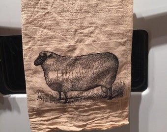 Ewe Floursack tea towel