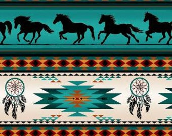 Running horses, dreamcatchers and native designs.