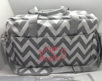 Personalized diaper bags boy etsy diaper bag monogram personalized chevron roomy grey gray baby boy girl name personalized girl gift negle Image collections