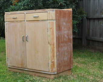 upcycled 'beachy' kitchen cabinet
