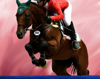 Danny and Celie Show Jumping