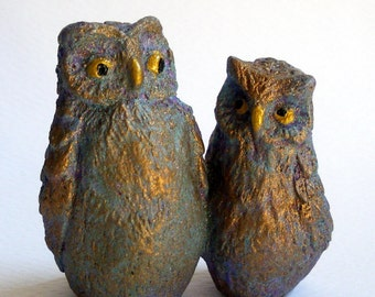 Owls Figurine - Mr and Mrs Owl