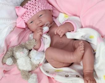 ADORABLE Baby GIRL! Preemie Berenguer La Newborn Reborn Pacifier Doll + Extras