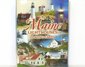 Playing Cards Deck Maine Lighthouses Vintage Unopened Portland Headlight Souvenir Novelty Deck of Cards
