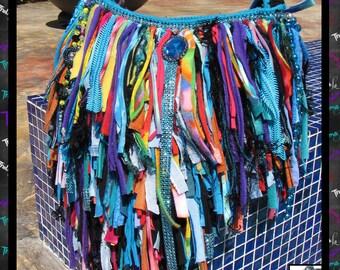 Hippie Tye Dye, Fringe Bag,custom handbag,Bling,rhinestones,jewels,beads,funky,fringe purse