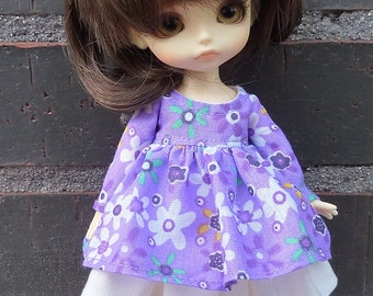 Dress and underskirt for Lati yellow and pukifee dolls.