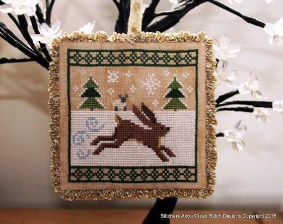 Dashing Through The Snow featuring Holmsey pdf Cross Stitch Chart