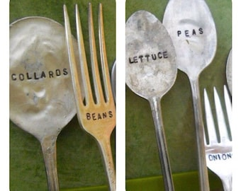 Garden Markers Tags from Vintage Silverware (Individual)