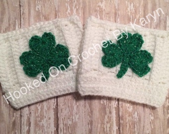 St. Patrick's Day crocheted boot cuffs