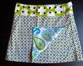 Li'l Skirts Med Long Gloria Reversible Wrap Adjustable Size 8-14 With Secret Phone Pocket