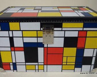 Trunk tribute was Piet Mondrian - unique Piece