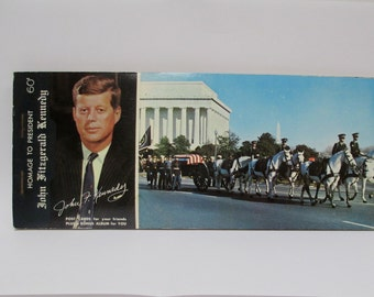 Vintage 12 Postcard Pack Homage to President John Kennedy,1963 Tribute Collection JFK Funeral, Washington Memorabilia Souvenir,Unused AS- IS
