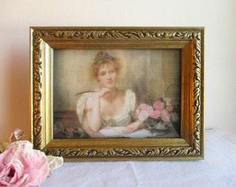 Vintage Gold Wooden Picture Frame,Gold Frame,Vintage Picture Frame,Vintage Gold Picture Frame,Shabby Picture Frame,Carved Wood Frame
