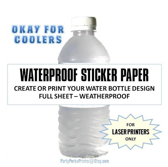 waterproof water bottle labels blank full sheet label baby With blank water bottle labels waterproof