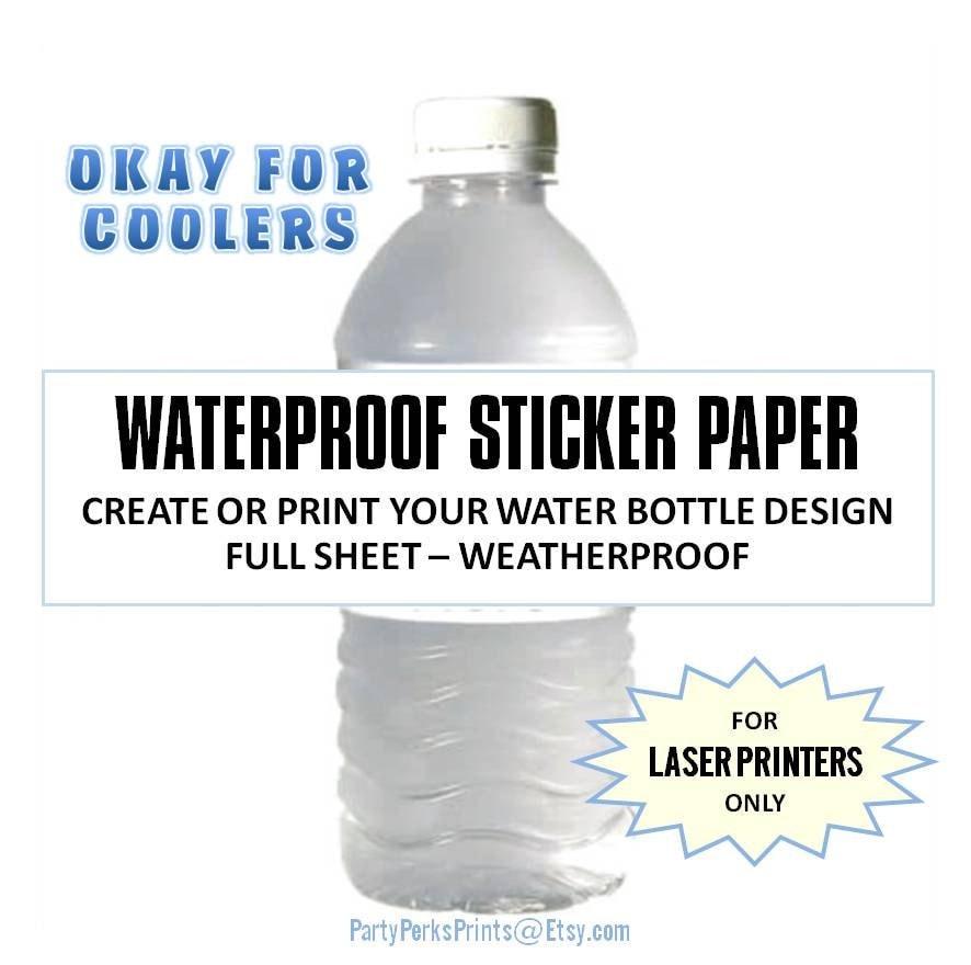 Waterproof Water Bottle Labels / Blank Full Sheet Label / Baby
