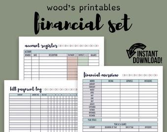 Financial Planner PDF Printable; Bill Tracker, Bill Planner, Bill Organizer, Family Budget, Financial Organizer, Home Binder, Budget Log