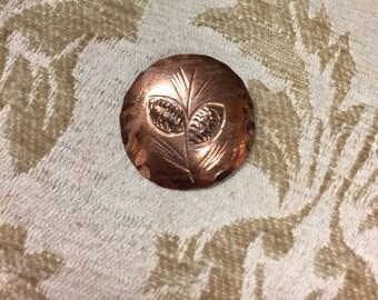 Vintage Copper NYE pin