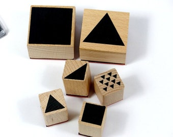 Stamp set stamps geometric