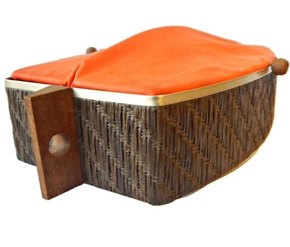 Electric Bun Warmer ~ Salton hotray bread warmer mcm tangerine orange electric bun