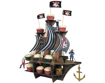 Pirate Party Large Centerpiece or Cupcake Stand