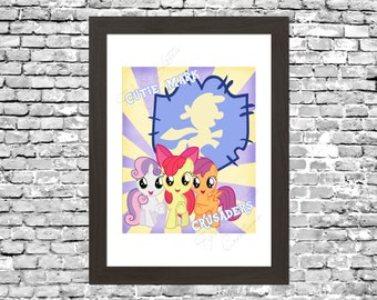 My Little Pony Cutie Mark Crusaders Wall Art Printable Instant Download