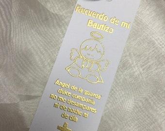 Bautizo Recuerdo book mark vintage
