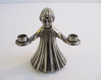 Silver Angel Candle Holder, Silver, Pillar Candle Holders, Candles, Pillar Candles, Candle Holders Angel Candle Holders Italy Silver Angels