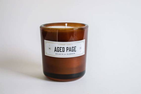 Aged Page Literary Candle // The Noble Collection