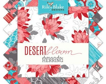 Desert Bloom 21 piece FREE SHIPPING 5 Inch Stacker by the Quilted Fish for Riley Blake