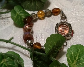 Single  beaded interchangeable watch and band