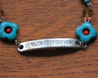 Bracelet Dias de los Muertos Lo Mejor es Lo Queviene