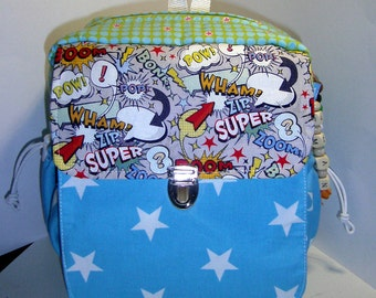 Kids backpack with name chain