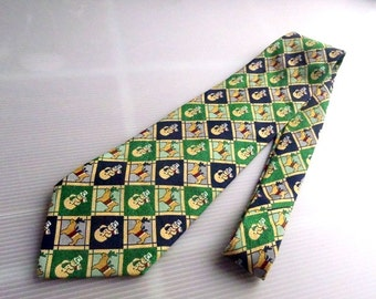 Men's ENRICO COVERI Necktis Cartoon Pattern L56'W4 Made in Italy