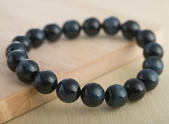 Blue Tiger Eye Bracelet 8mm Beads Men S Beaded Bracelet