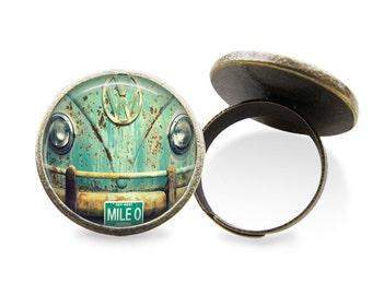 Vintage VW Bus Earring or Ring