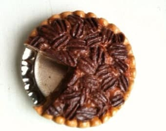 Miniature Food! Made to order, handmade, polymer clay pie magnet, ornament, key chain or doll food