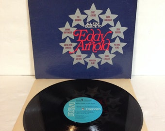 All Star Tribute To Eddy Arnold Vintage Vinyl Record Album lp RCA Camden Records CCS 0139 e