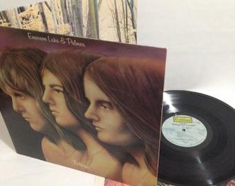 Emerson Lake & Palmer Trilogy Vintage Vinyl Record Album 1972 Cotillion Records SD 9903 Gatefold Cover